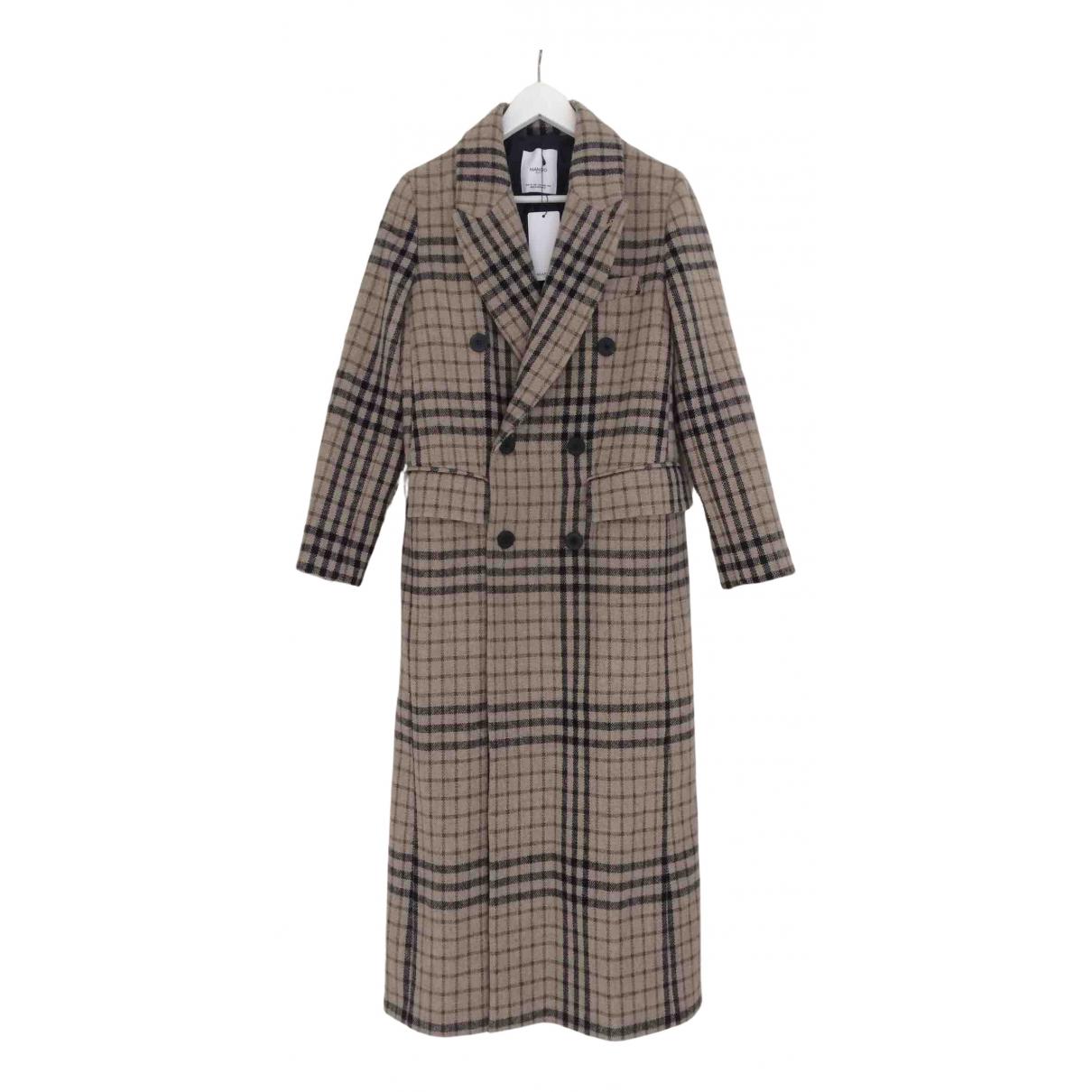 Mango - Manteau   pour femme en laine - beige