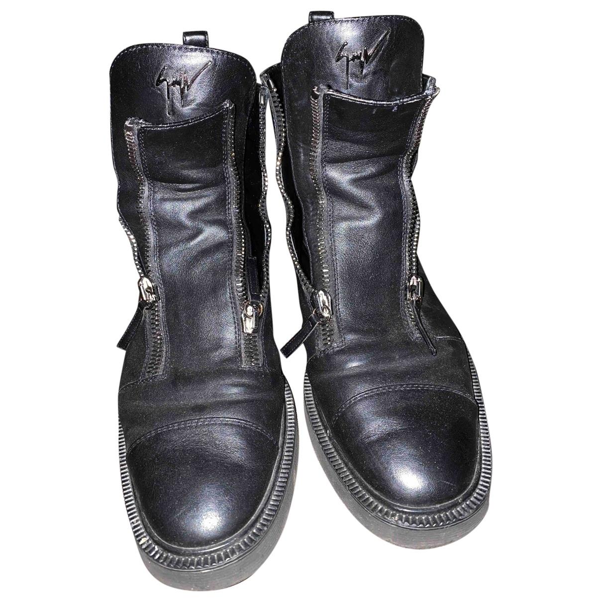 Giuseppe Zanotti \N Black Leather Boots for Men 43 EU
