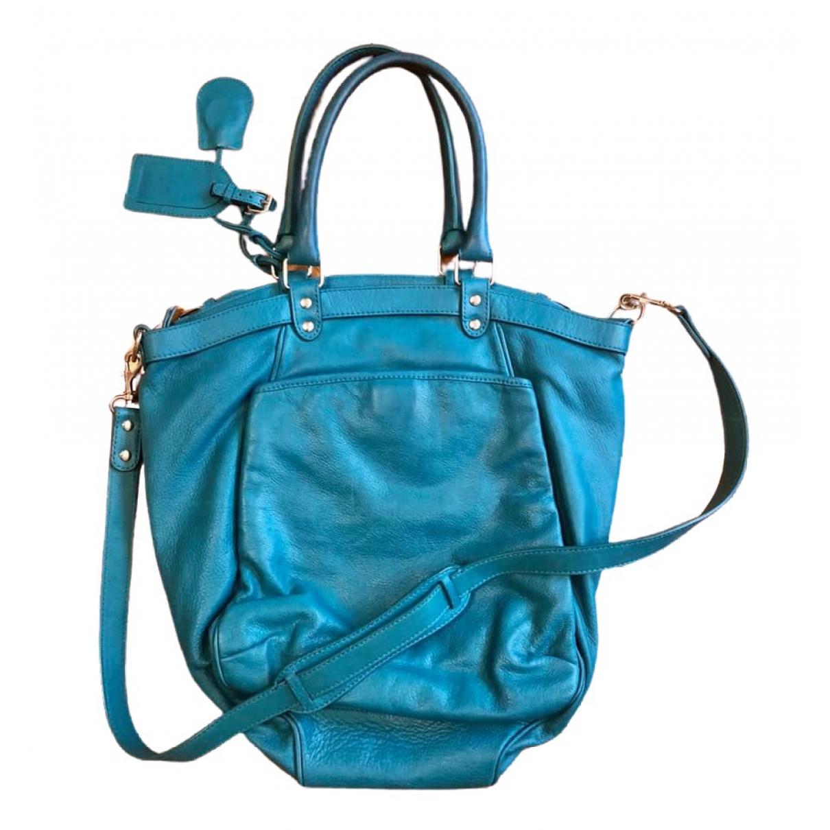 Vanessa Bruno Lune Turquoise Leather handbag for Women \N