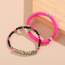 2 Stuecke Armband mit Perlen