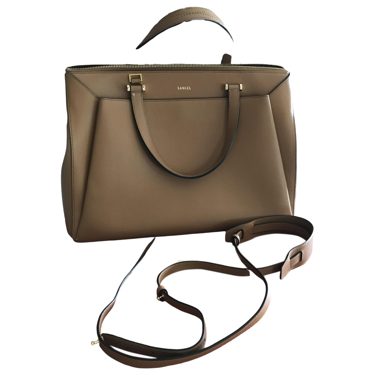 Lancel Lison Camel Leather handbag for Women \N