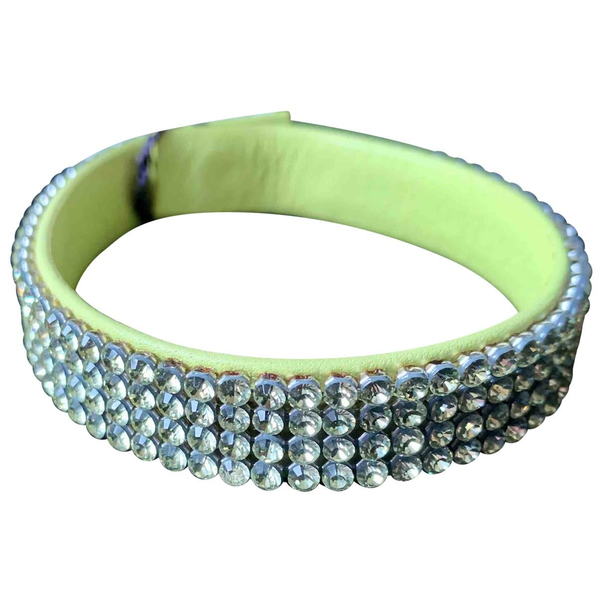 Swarovski - Bracelet   pour femme en cuir - jaune