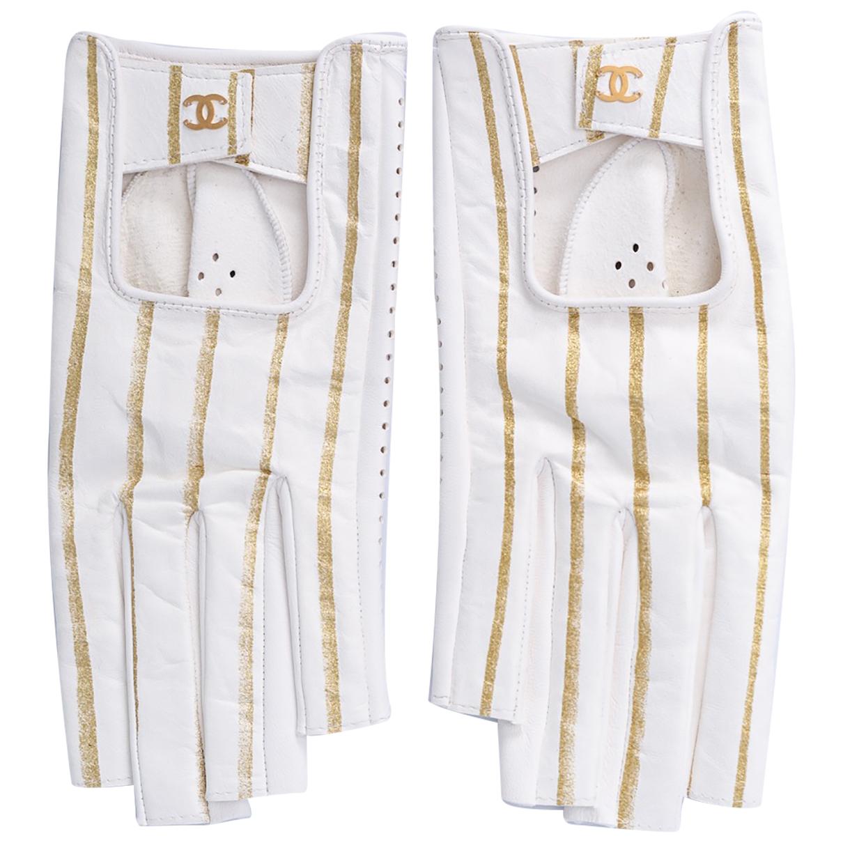 Chanel - Gants   pour femme en cuir - blanc