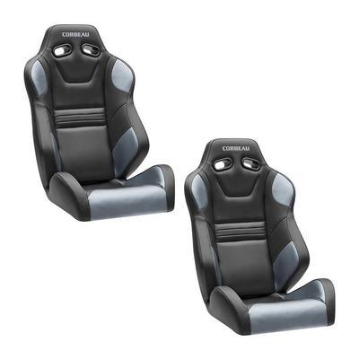 Corbeau SXS Pro Seat - Polaris RZR - Pair (Black/Silver) - 27290PR