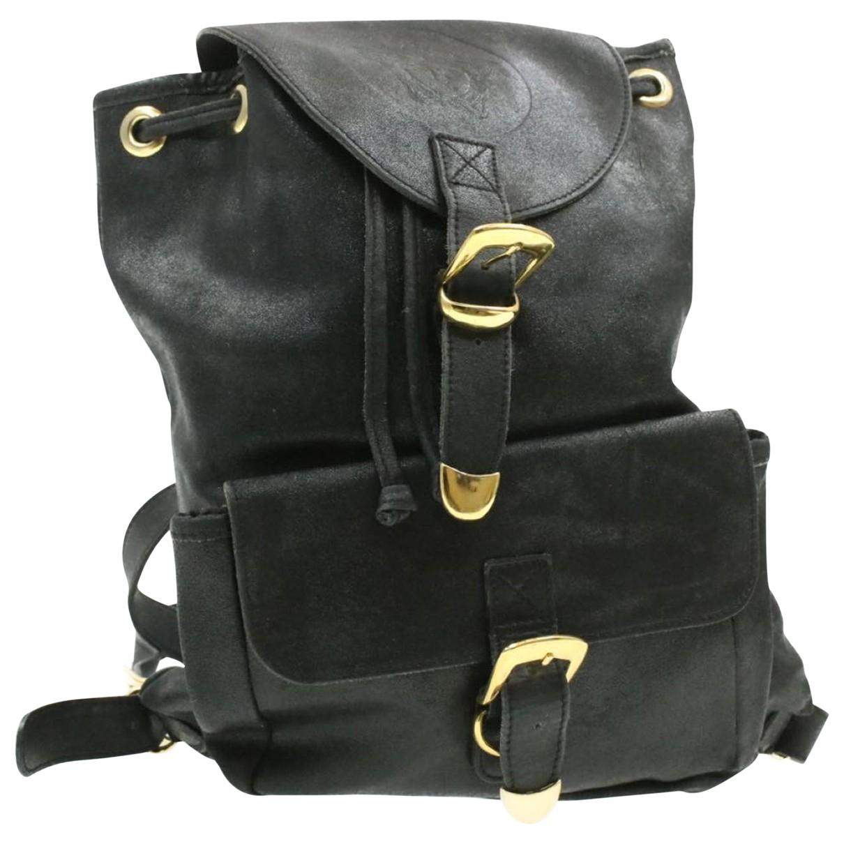 Gianni Versace - Sac a dos   pour femme en cuir - noir
