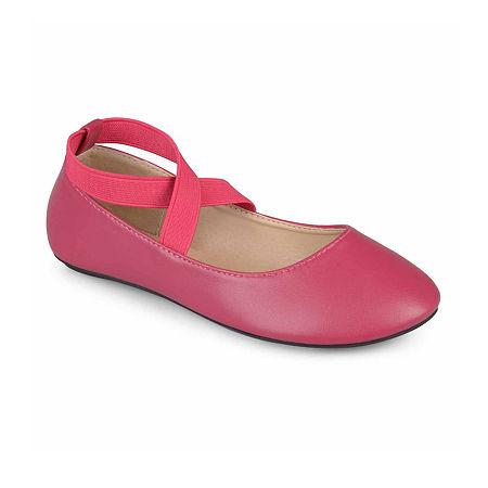 Journee Kids Nessa Girls Ballet Flats - Little Kids/Big Kids, 13 Medium, Pink