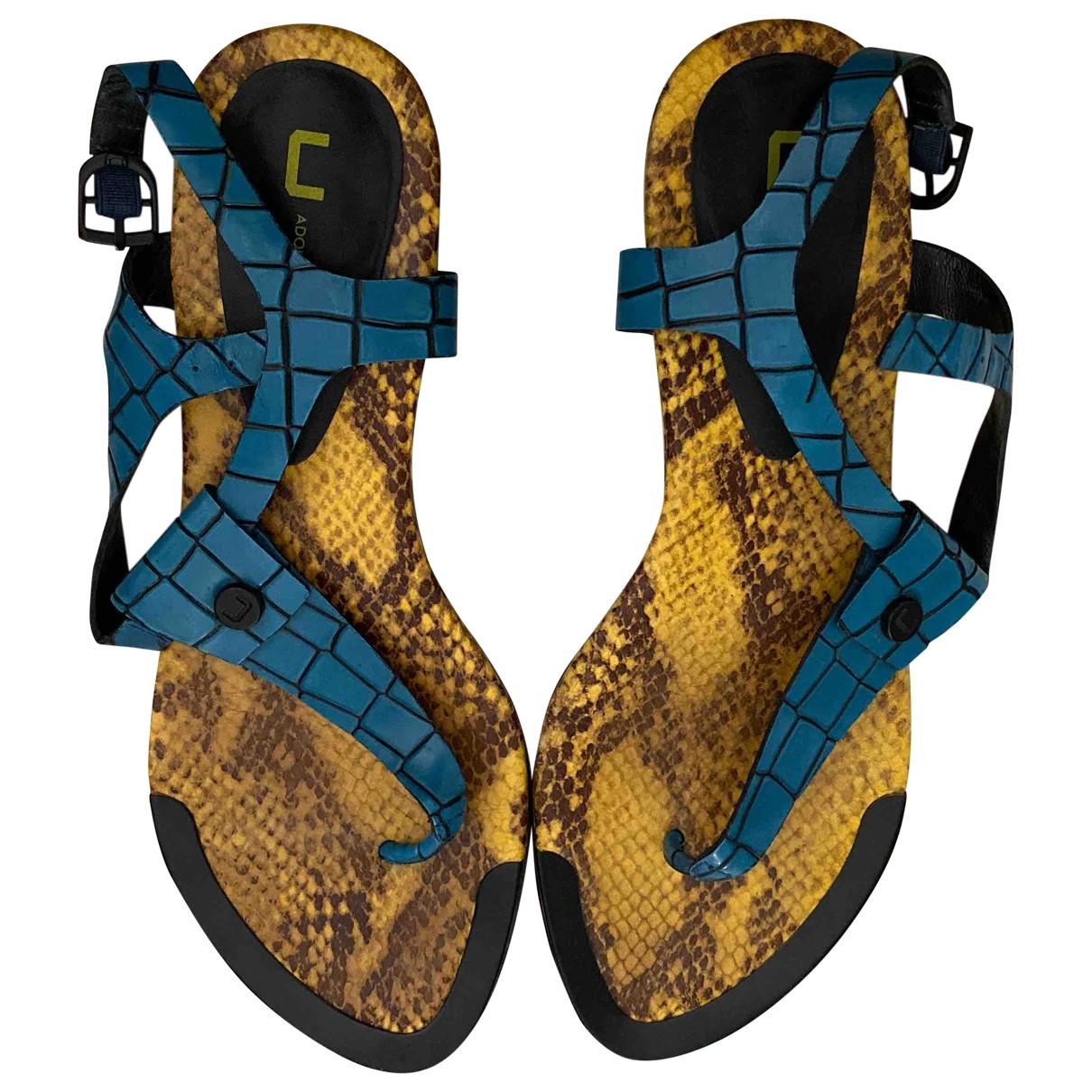 Adolfo Dominguez \N Blue Python Sandals for Women 39 EU