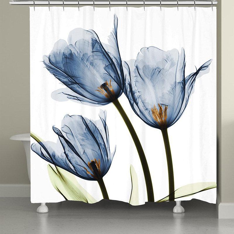 150x180cm Flannel Fabric Shower Curtain Waterproof Bathroom Home Toilet Decor