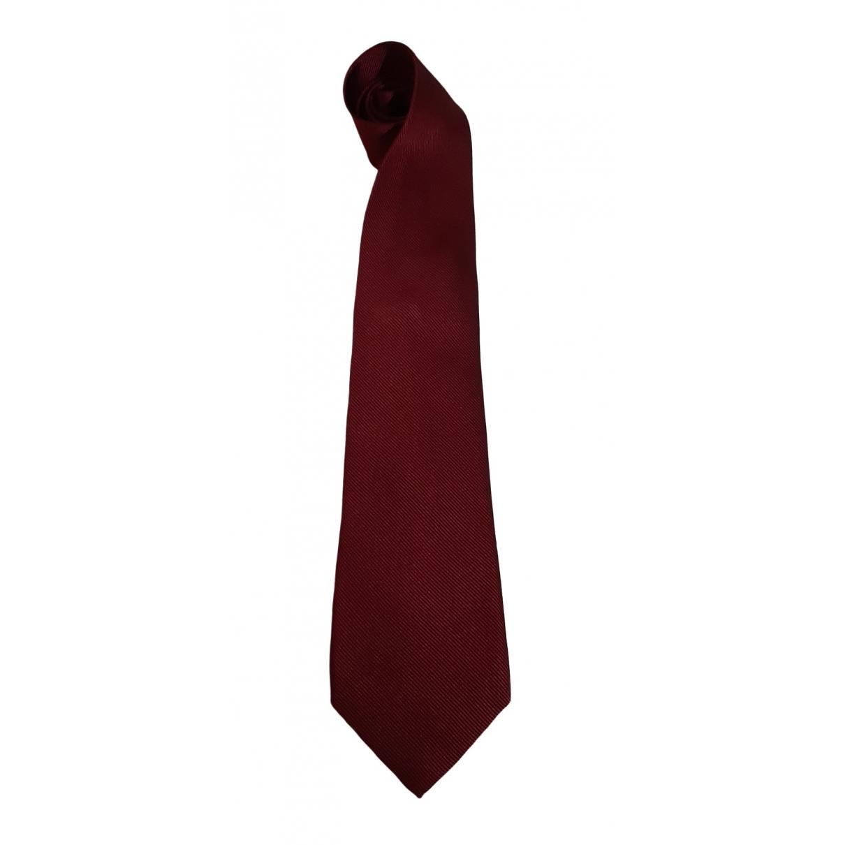 Bvlgari - Cravates   pour homme en soie - bordeaux