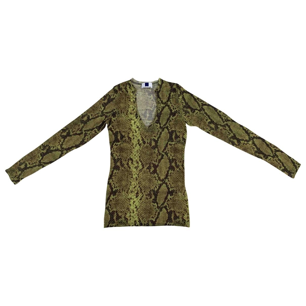 - Top   pour femme en laine - vert