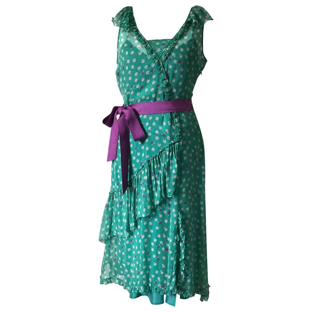Marc Jacobs - Robe   pour femme en soie - vert
