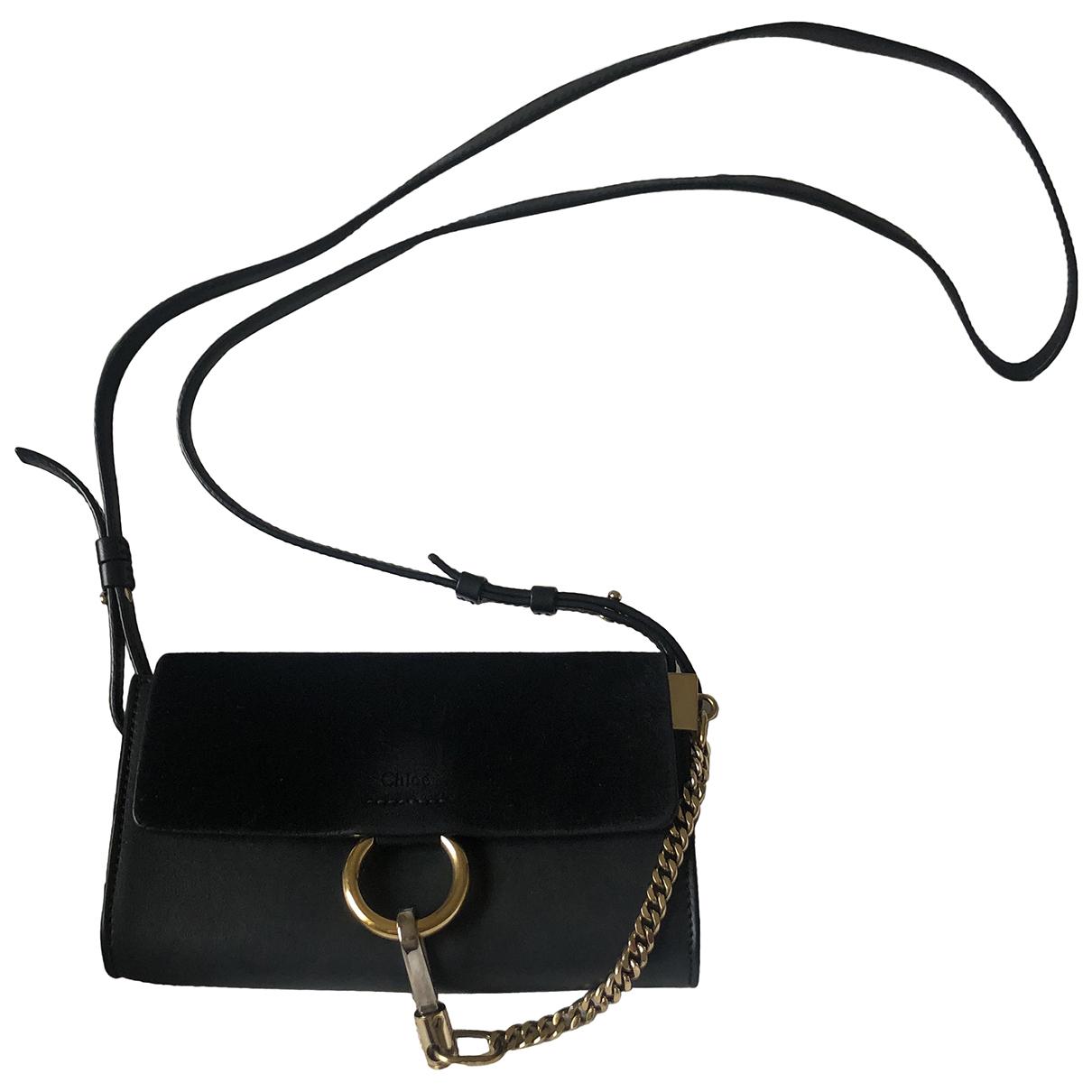 Chloé Faye Black Leather handbag for Women \N