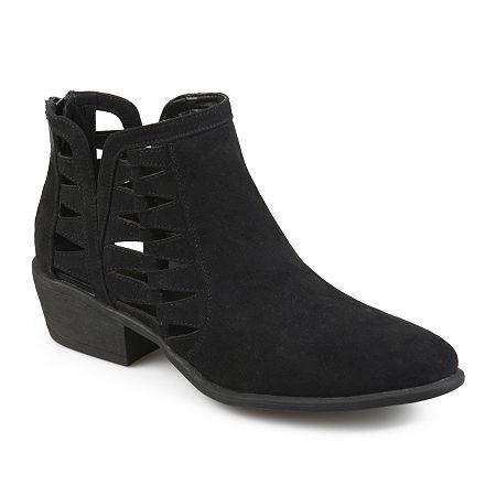 Journee Collection Womens Finley Booties Block Heel, 7 1/2 Medium, Black