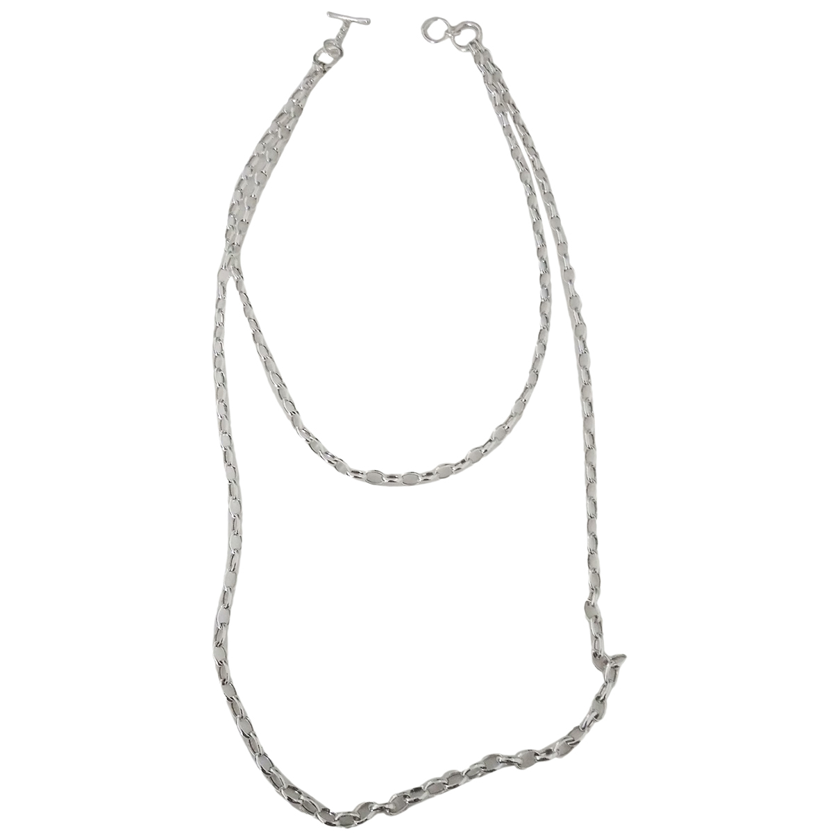 Non Signé / Unsigned Chaînes Silver Silver Long necklace for Women N