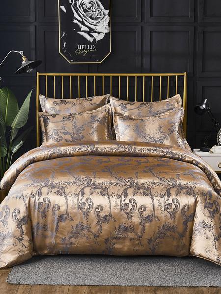 Milanoo Bedding Set 3-Piece Polyester Fiber Violet Bedding Supplies
