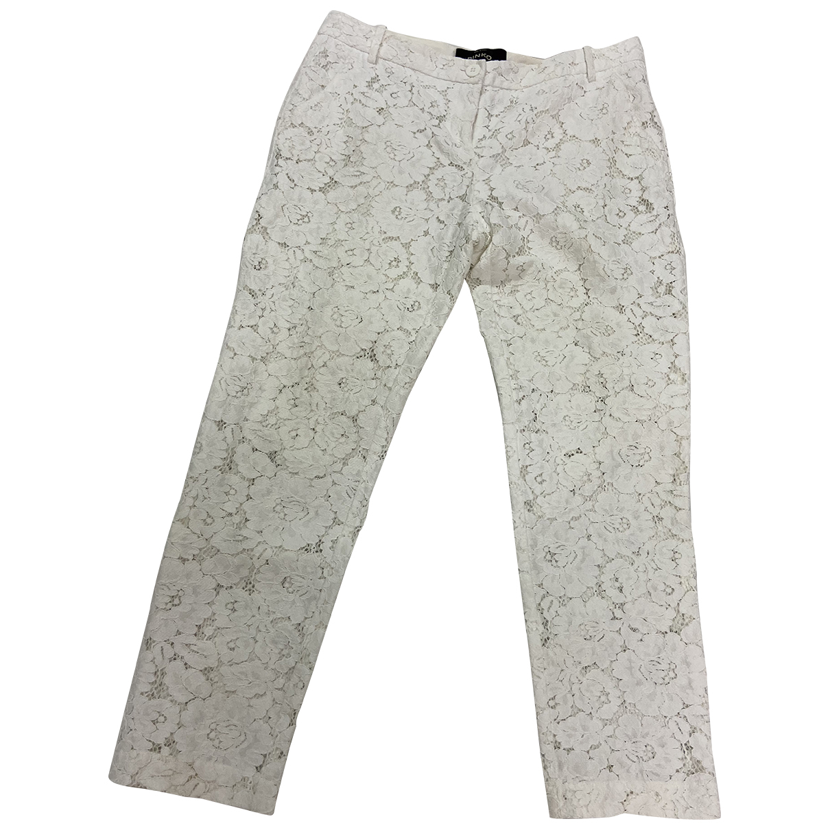 Pinko N White Cotton Trousers for Women 44 IT