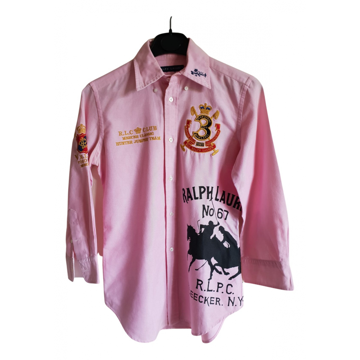 Ralph Lauren N Pink Cotton  top for Women 34 FR