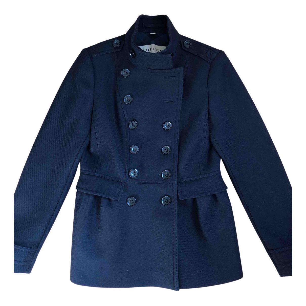 Burberry N Blue Wool jacket for Women 42 IT