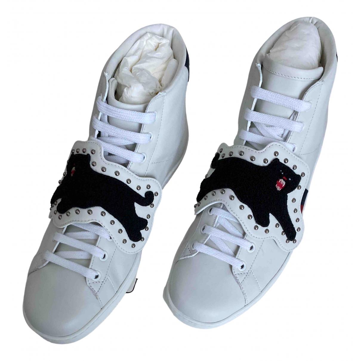 Gucci - Baskets Ace pour homme en cuir - blanc