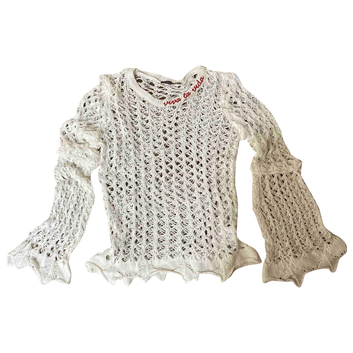 Non Signé / Unsigned \N White Cotton Knitwear for Women One Size International