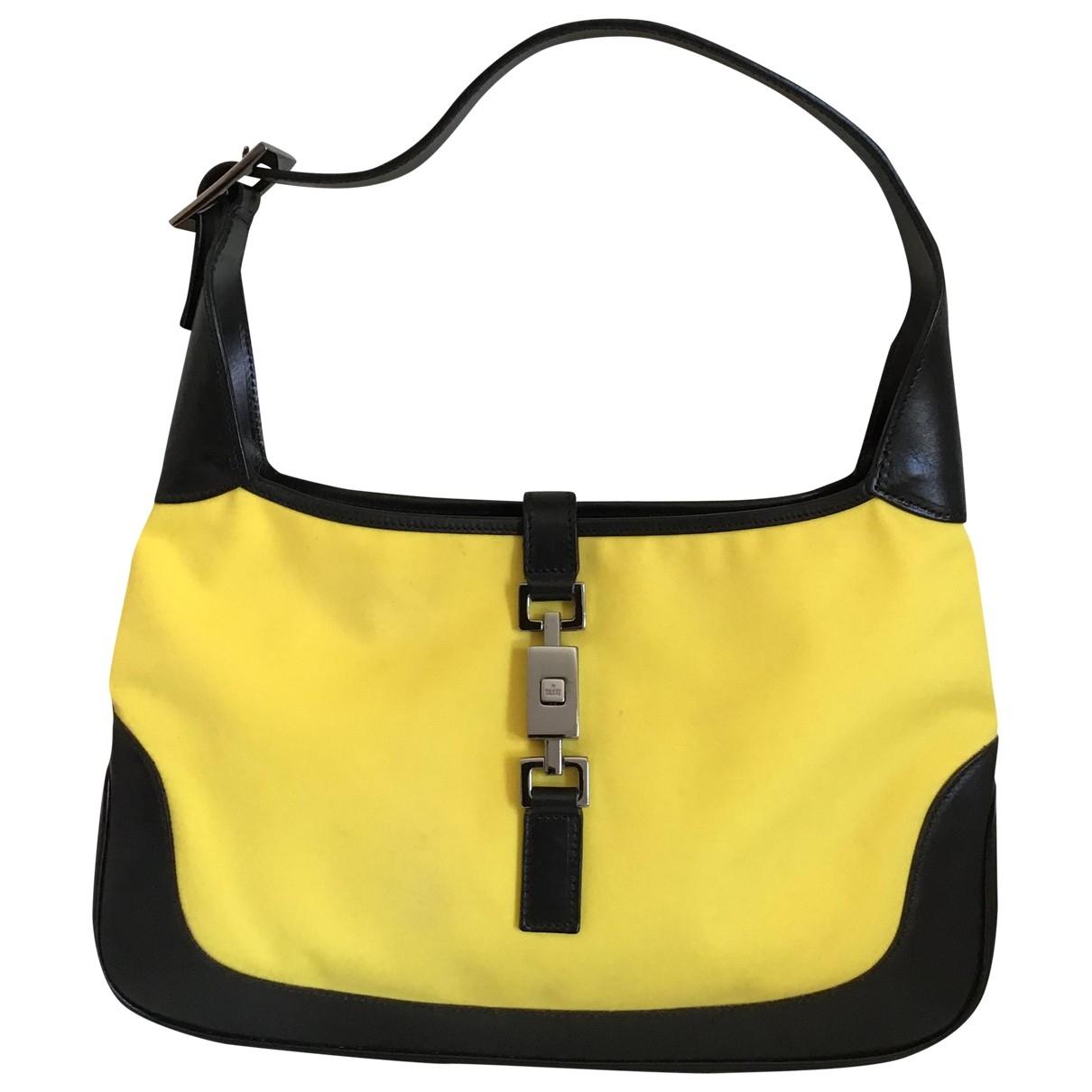 Gucci Jackie Vintage  Yellow Cloth handbag for Women \N