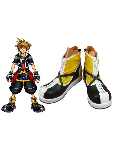 Milanoo Gorgeous Kingdom Hearts II Sora Imitated Leather Foam Cosplay Shoes Halloween