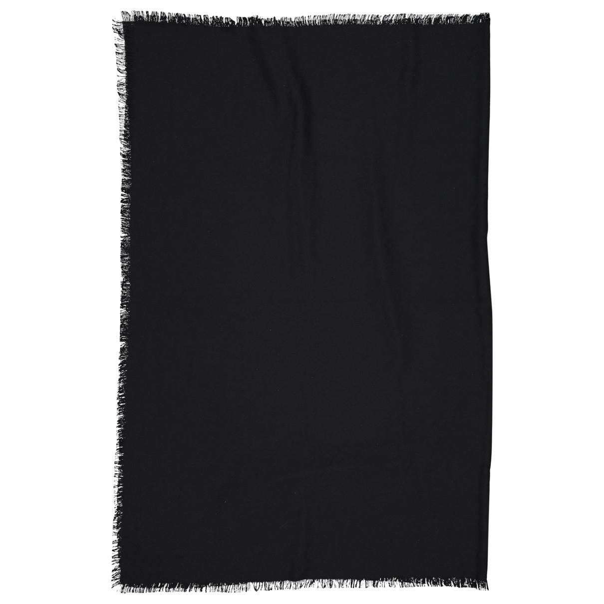 Saint Laurent \N Black Cashmere scarf for Women \N