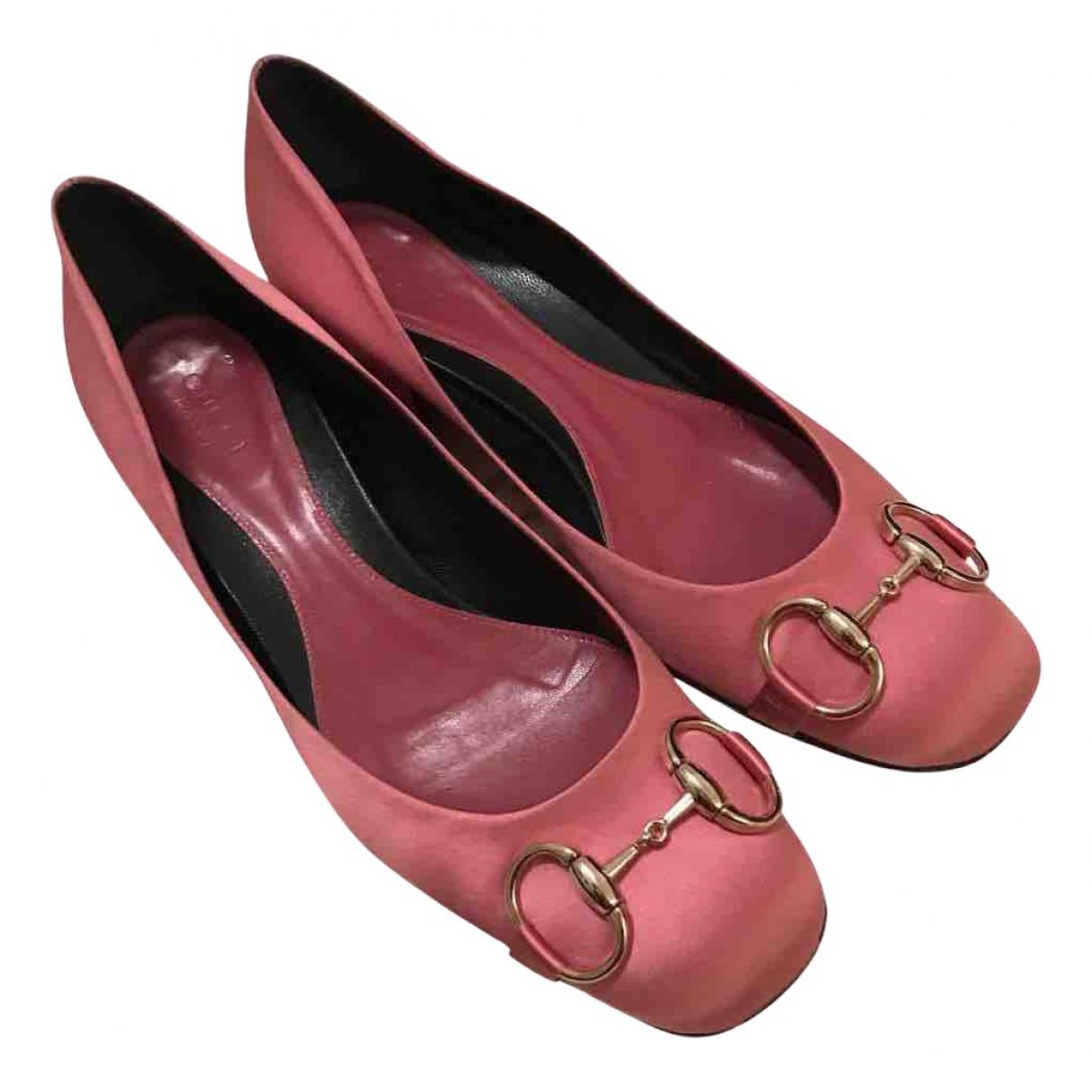 Gucci - Ballerines   pour femme en toile - rose
