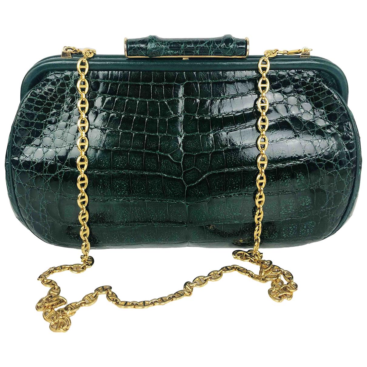 Gucci N Green Crocodile Clutch bag for Women N