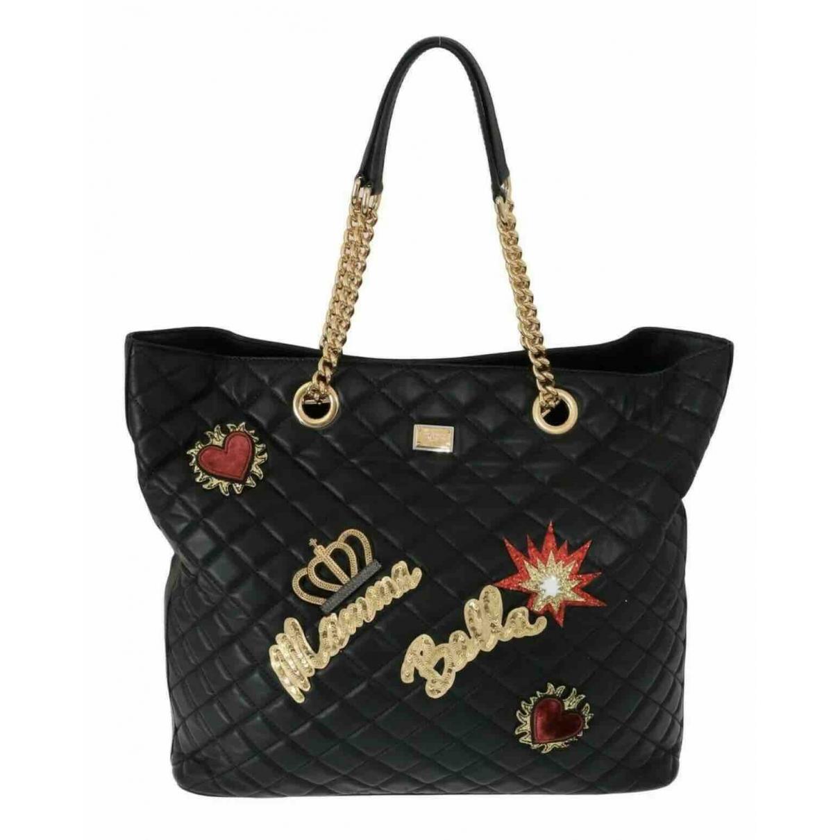 Dolce & Gabbana \N Black Leather handbag for Women \N