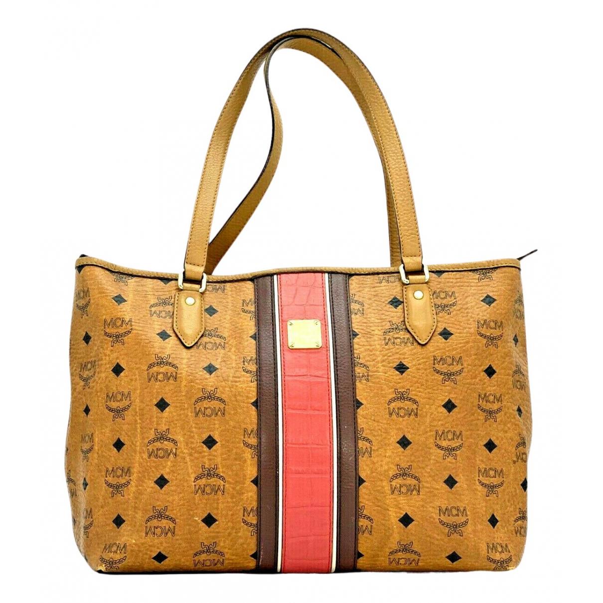 Mcm N Camel Leather handbag for Women N