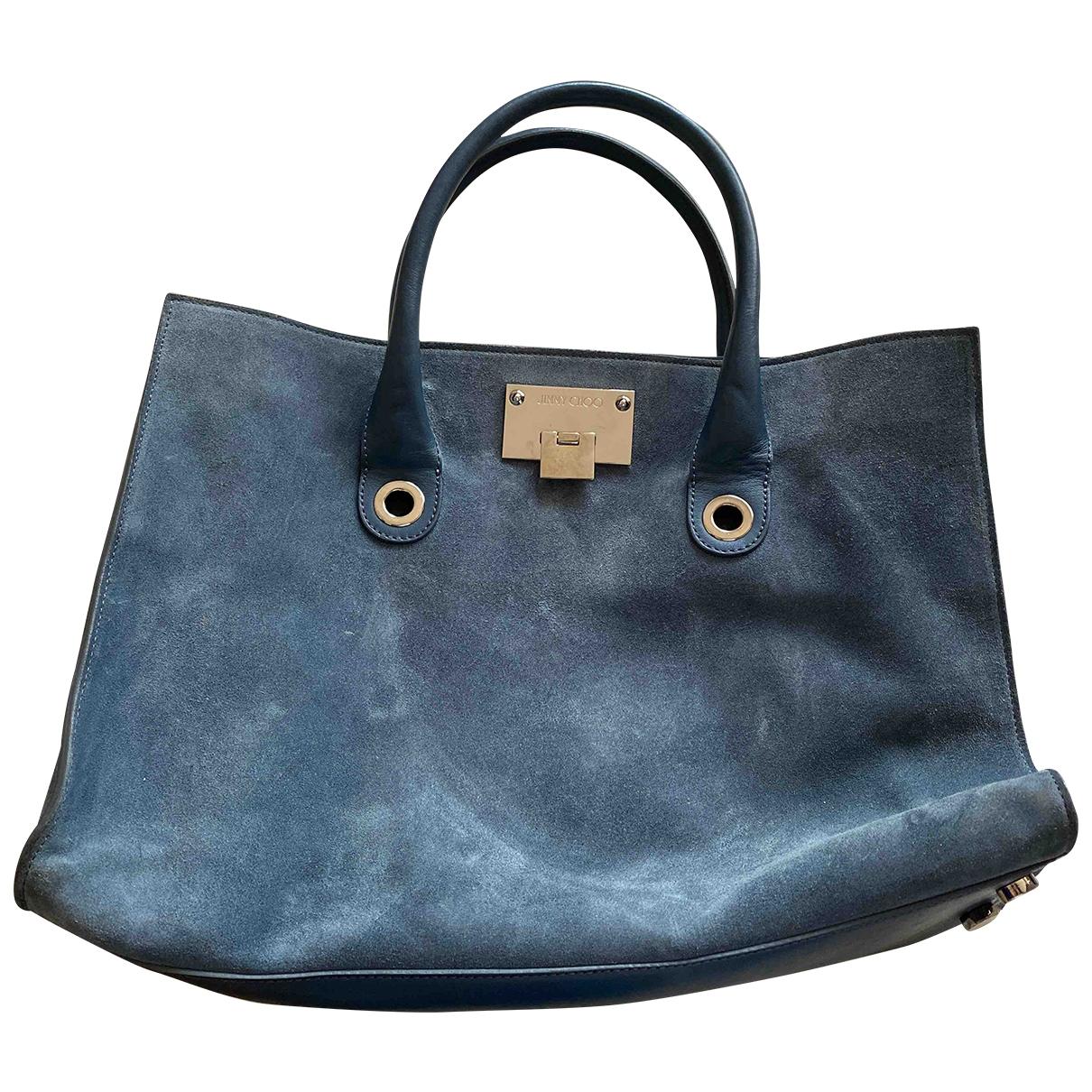 Jimmy Choo Riley Handtasche in  Blau Veloursleder