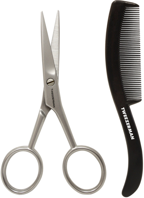 G.E.A.R. Moustache Scissors with Comb