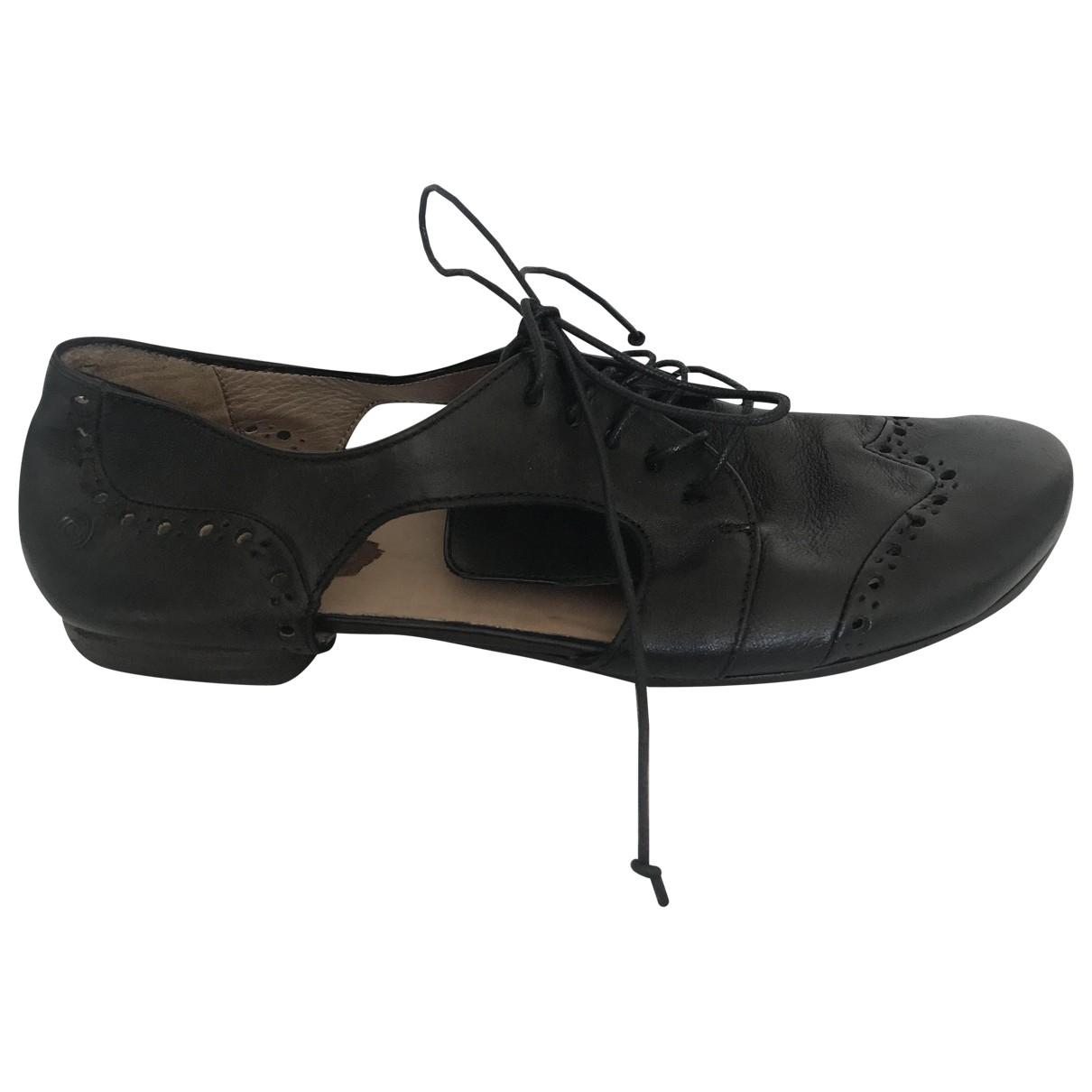 Marsell \N Ballerinas in  Schwarz Leder
