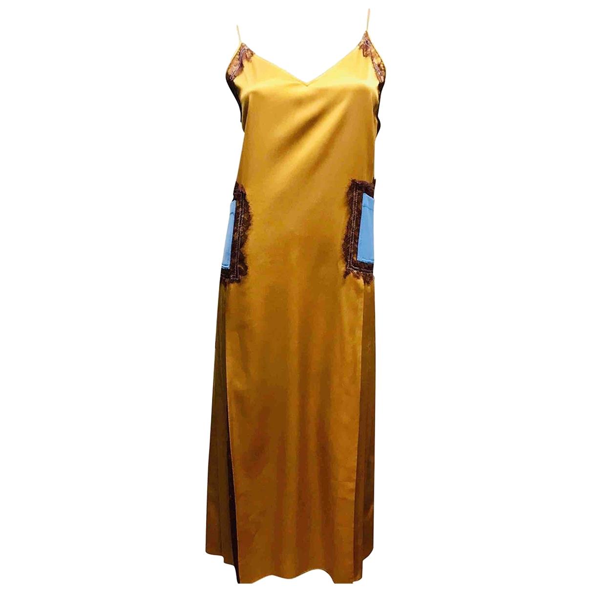 Tory Burch \N Kleid in  Metallic Seide
