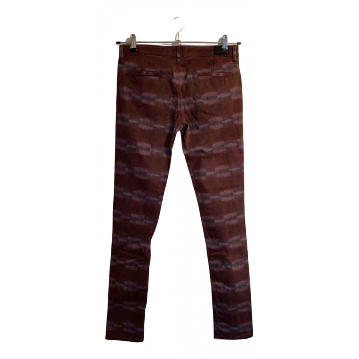 See By Chloé N Burgundy Cotton Trousers for Women 34 FR