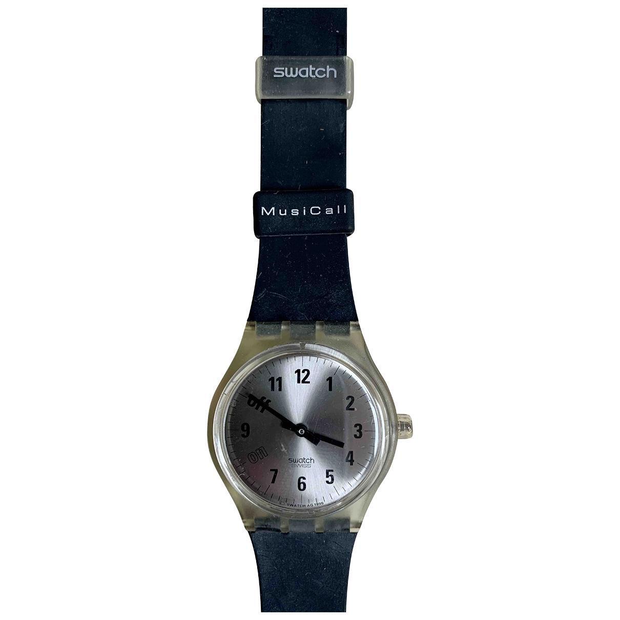 Swatch - Montre   pour homme en acier - bleu