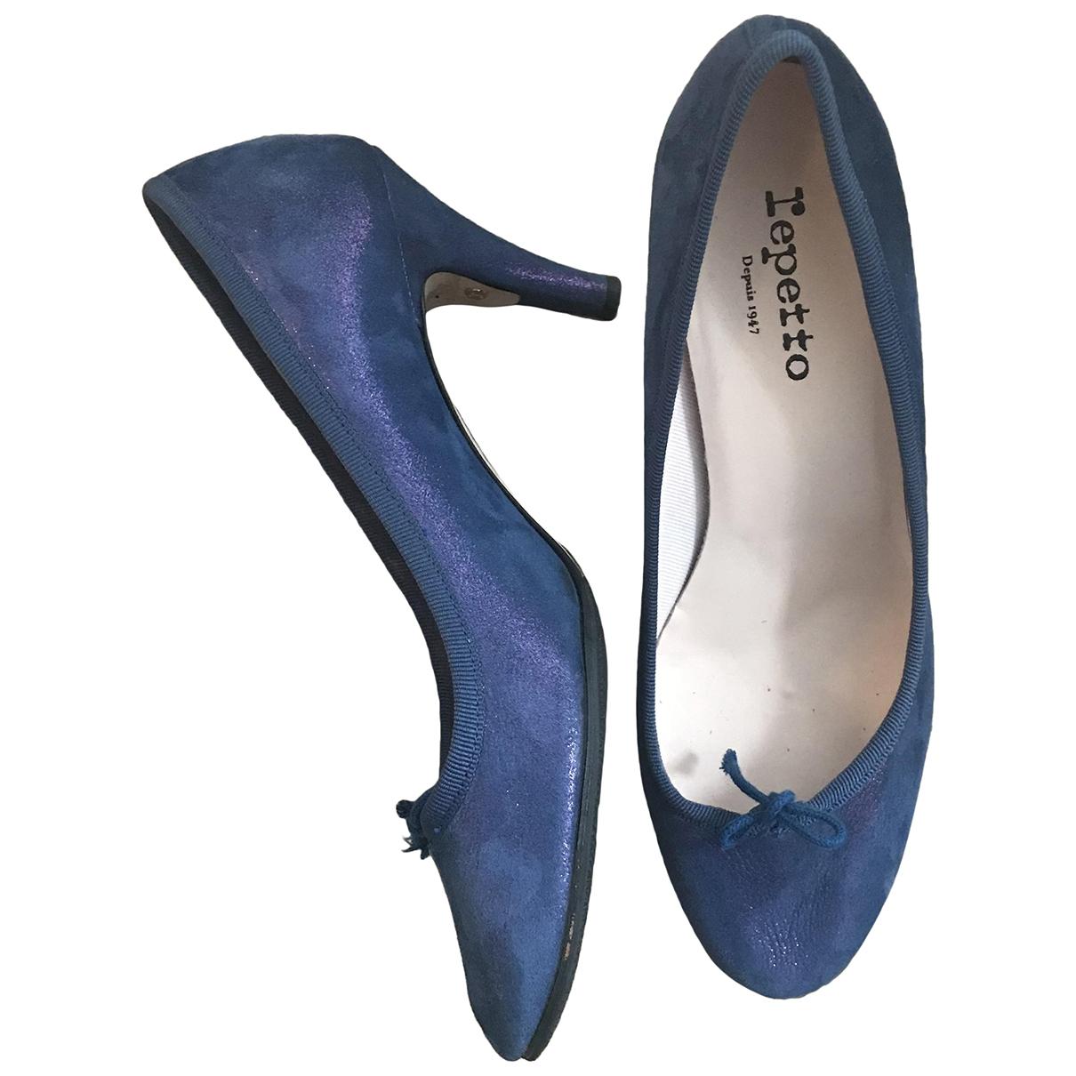 Repetto - Escarpins   pour femme en cuir - bleu