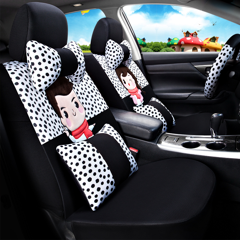 Youthful Lovely Pleasant Cartoon Character Universal Car Seat Covers