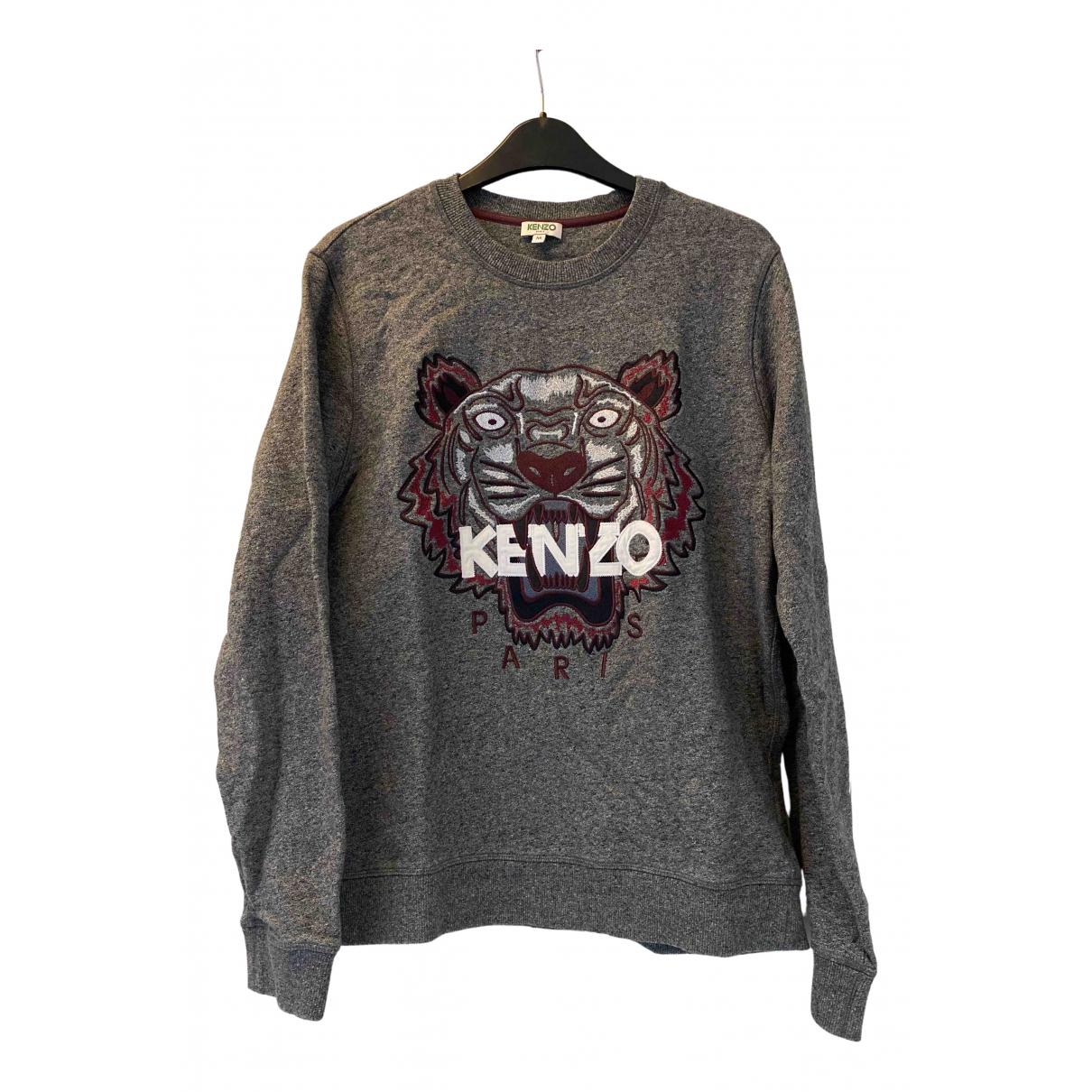 Kenzo \N Pullover.Westen.Sweatshirts  in  Anthrazit Baumwolle