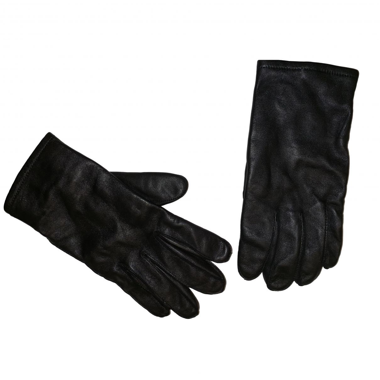 Sandro \N Black Leather Gloves for Men M International