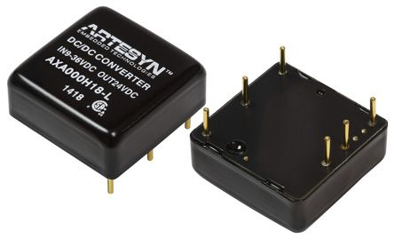Artesyn Embedded Technologies AXA 10W Isolated DC-DC Converter Through Hole, Voltage in 18 ? 75 V dc, Voltage