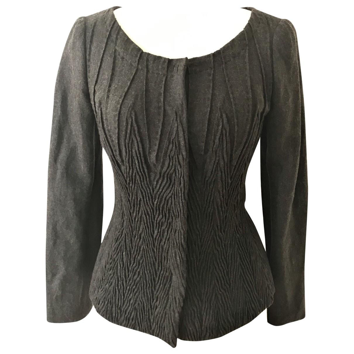 Alberta Ferretti - Veste   pour femme en laine - gris