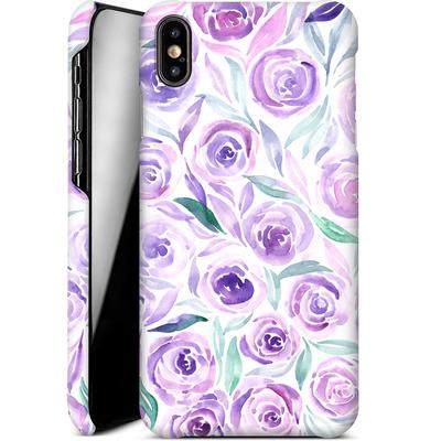 Apple iPhone XS Max Smartphone Huelle - Purple Rose Floral von Becky Starsmore