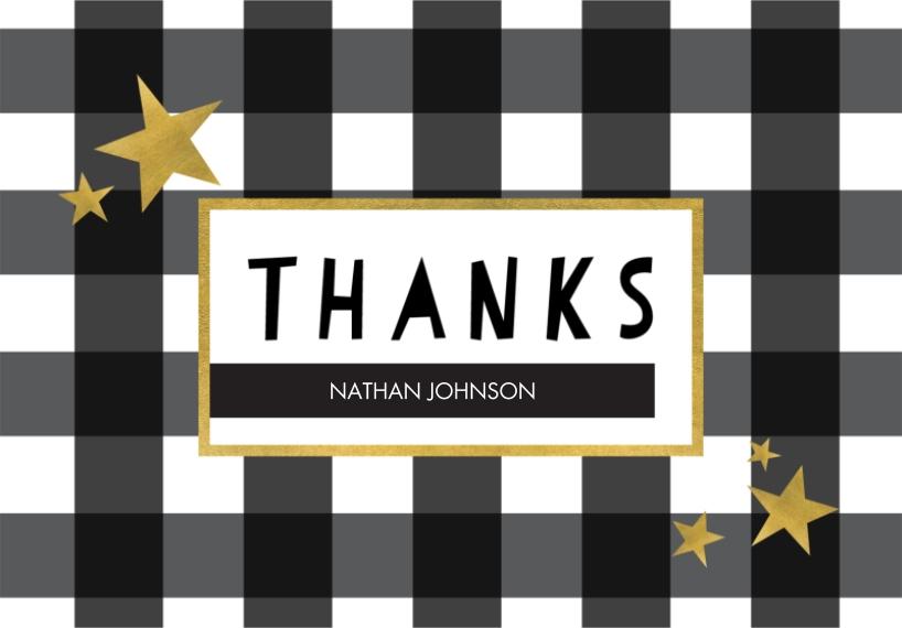 Thank You Cards 3.5x5 Folded Notecard, Card & Stationery -Modern Stripes