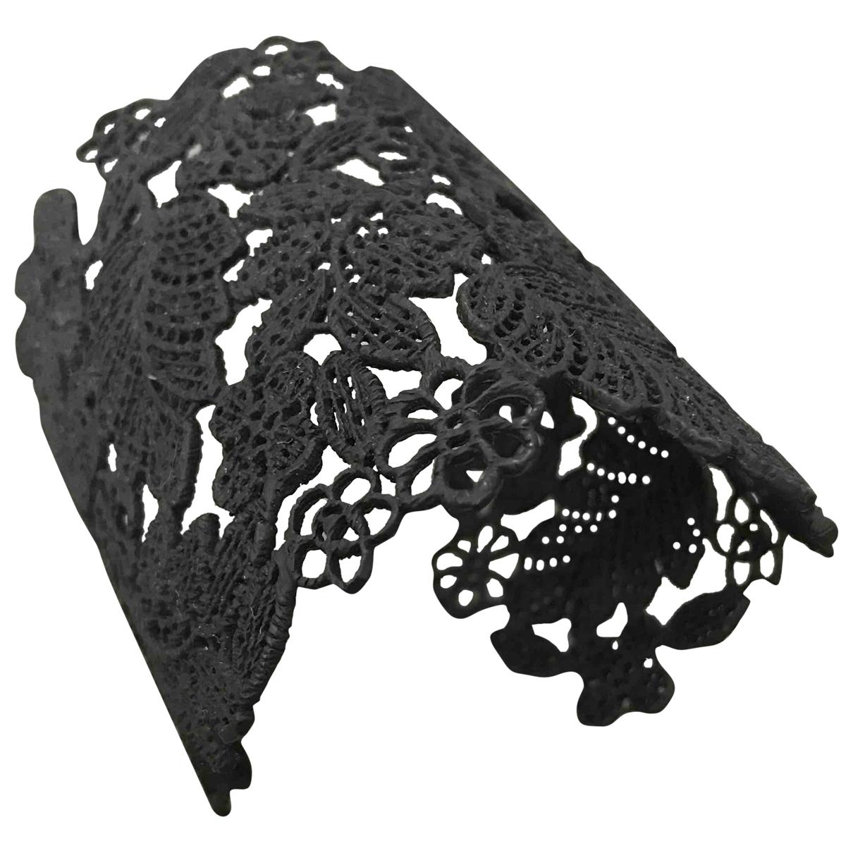 - Bracelet   pour femme en toile - noir