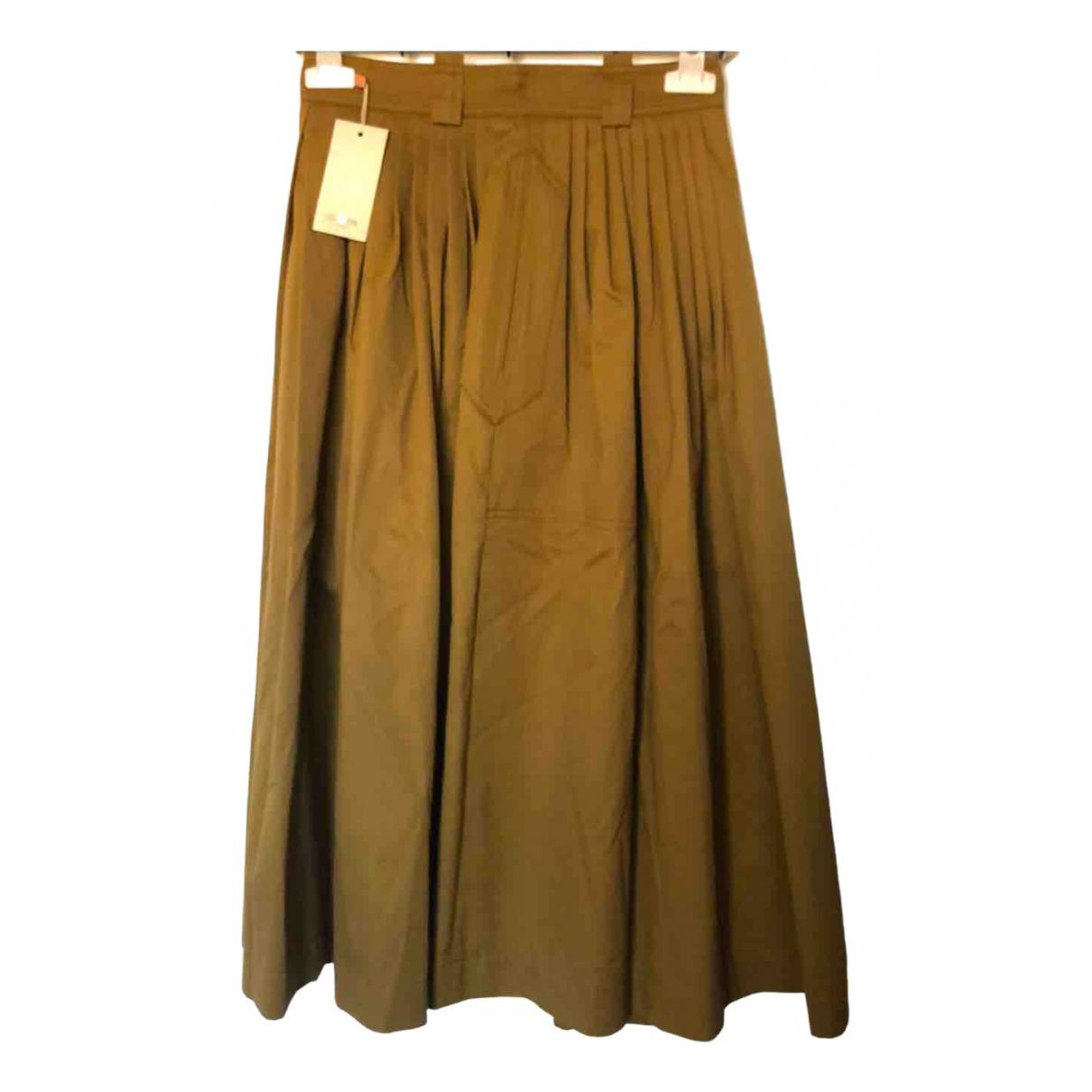 Golden Goose - Jupe   pour femme en coton - elasthane - kaki