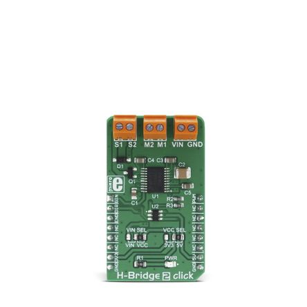 MikroElektronika Development Kit H-Bridge 2 Click for use with Direction Control, Mechanized Toys, Motor Speed, Movement Actuators,