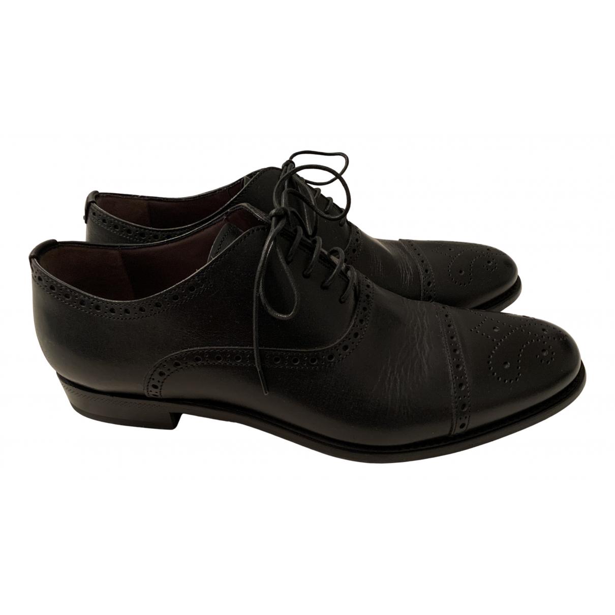 Saint Laurent - Derbies   pour homme en cuir - noir