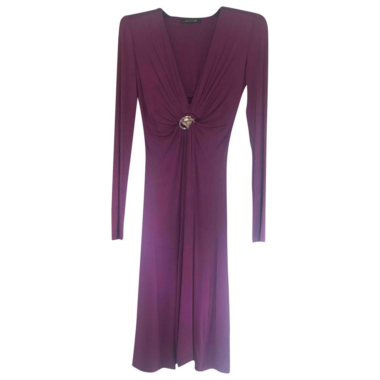 Roberto Cavalli - Robe   pour femme en coton - elasthane - violet